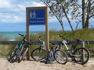 Photo of bikes in Pinery Provincial Park