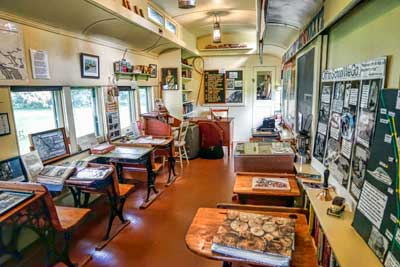 Interior of the School on Wheels (Photo: J. Baillie)